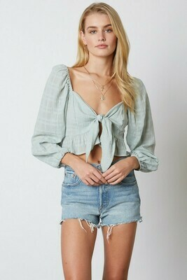 Front Tie Sweetheart Top