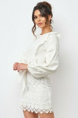 Long Sleeve Lace Crochet Dress
