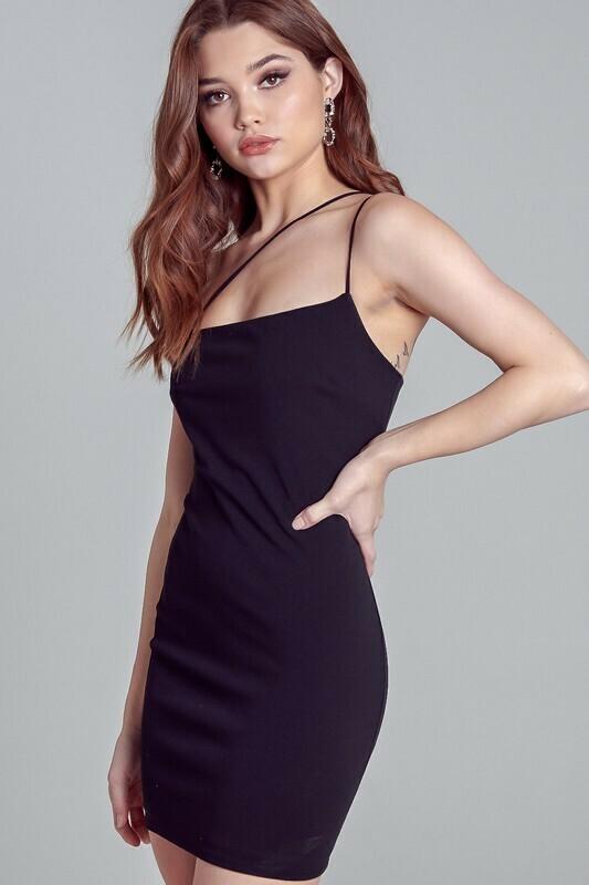 Asymmetric Little Black Dress