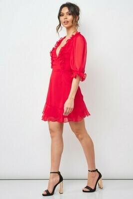 Dana Ruffle Trim Dress