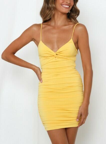 Skinny Strap Bodycon Dress