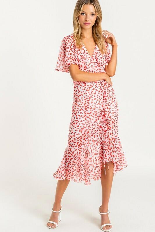 Cindy Flutter Wrap Dress
