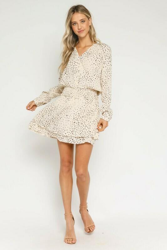 Polka Dot Smocked Waist Dress