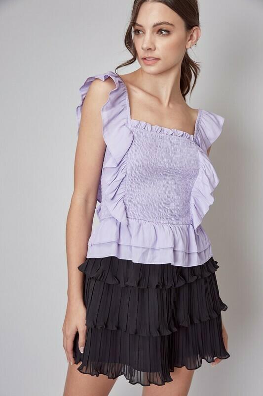 Tiffany Ruffle Smocked Top