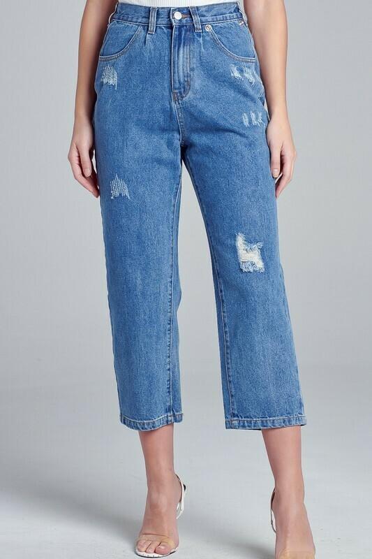 Nora Ripped Denim Pants