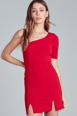 One Shoulder Slit Dress