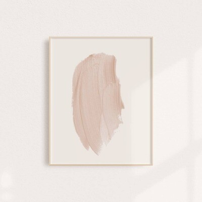 Blush Stroke Art Print 11x14
