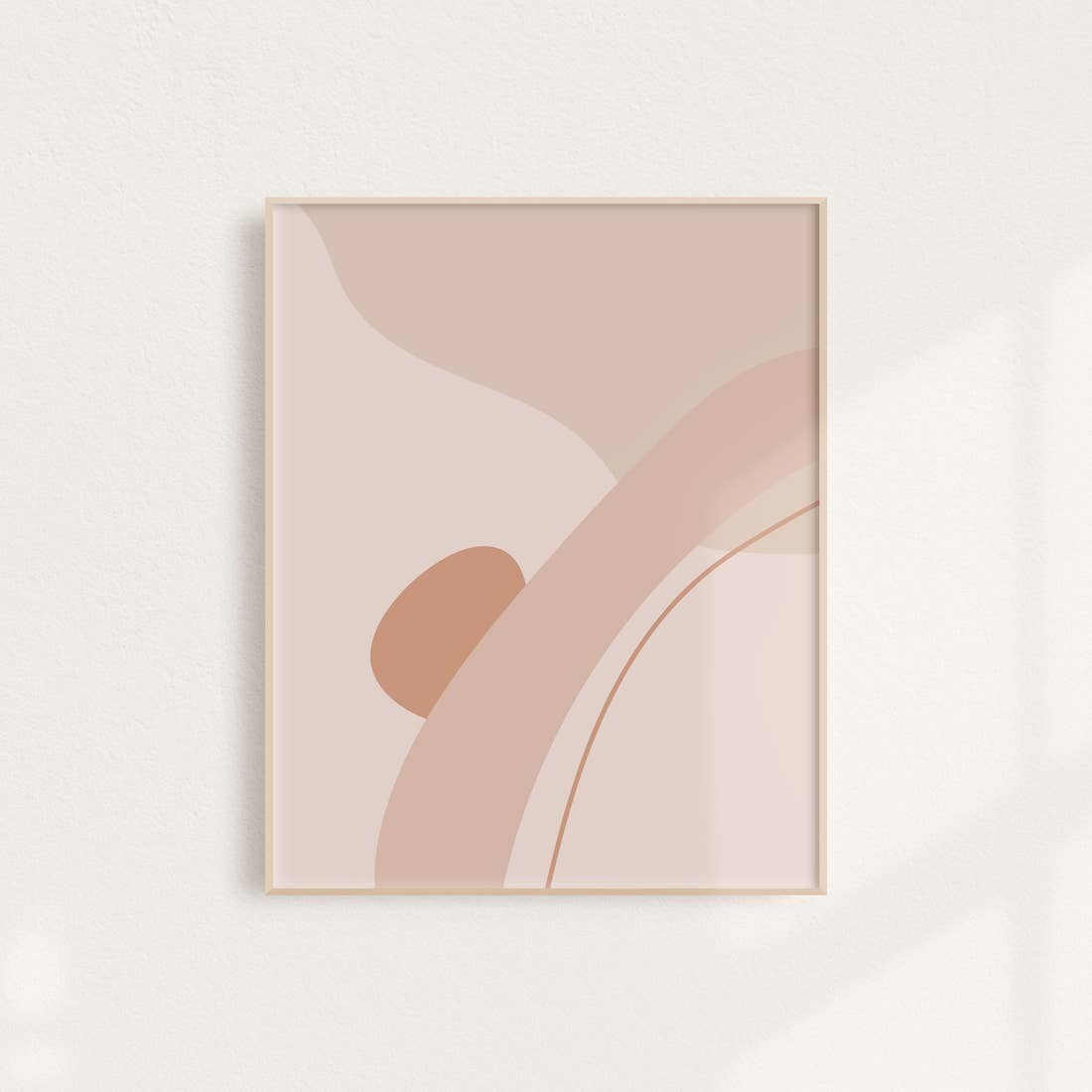 Warm Abstract II Art Print 11x14