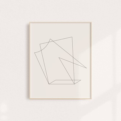 Minimalist, Modern Abstract Art Print 11x14