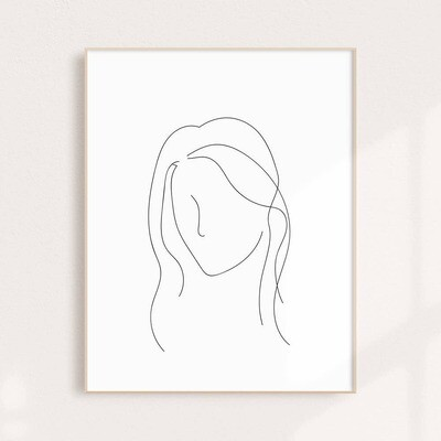 Feminine Black and White Wall Art Print 11x14
