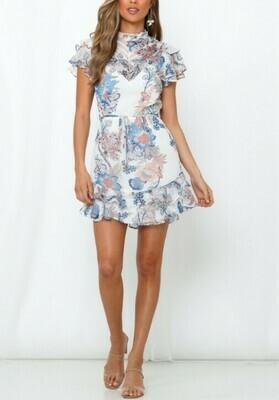 Bailee Printed Chiffon Dress