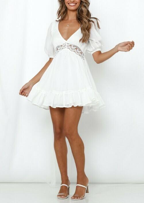 Celine Crochet Waist Dress