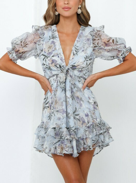 Steph Front Tie Ruffle Dress