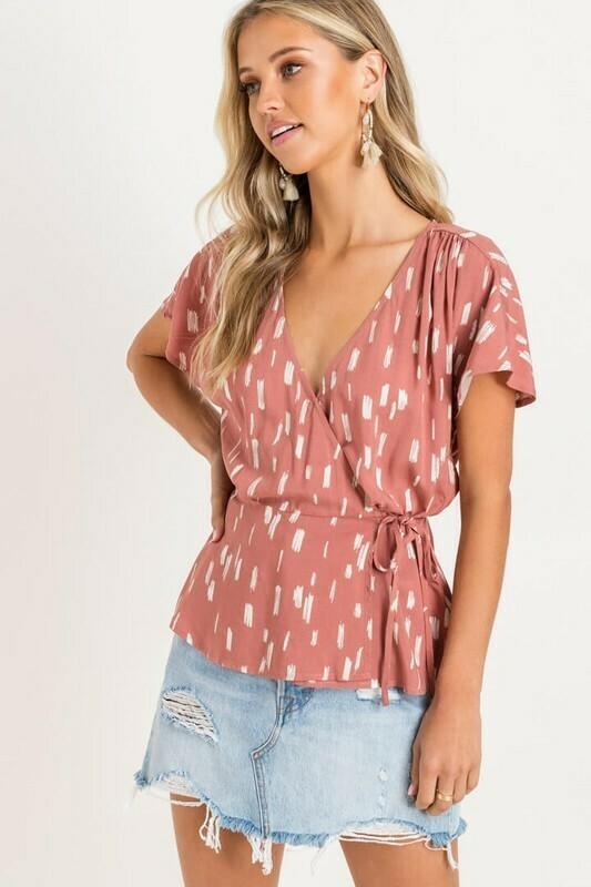 Surplice Wrap Top