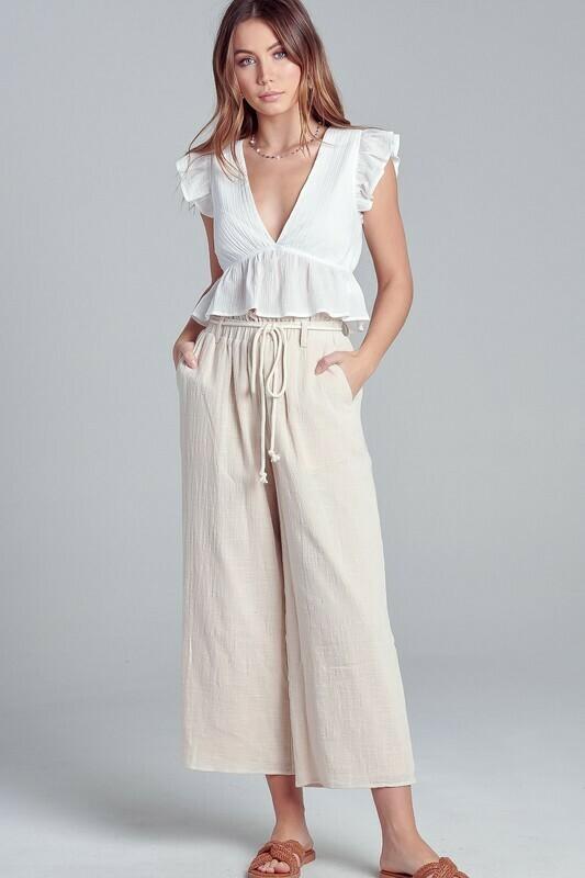 Paper-bag  Drawstring Pants