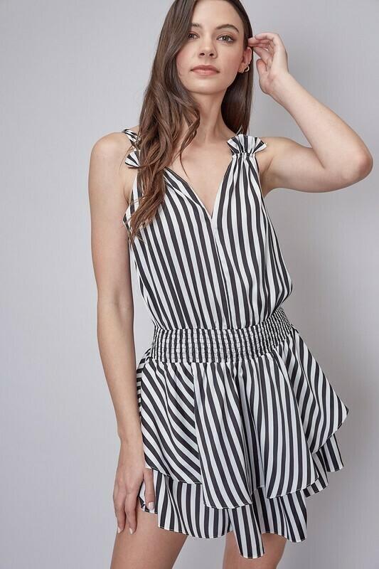 Sailor Striped Smocked Dress