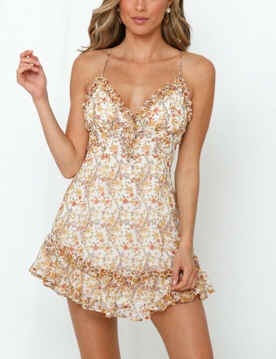 Leslie Chiffon Ruffle Dress