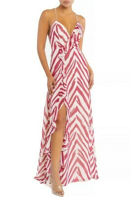 Zebra Slit Maxi Dress