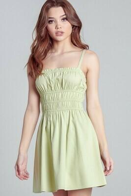 Shirring Detail Mini Dress