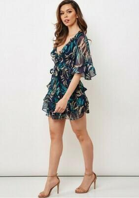 Carly Floral Chiffon Dress