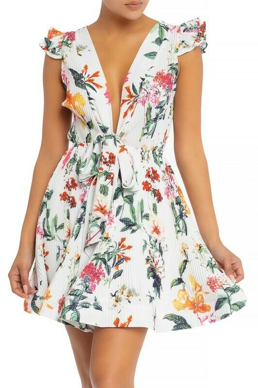 Vintage Floral Flare Dress