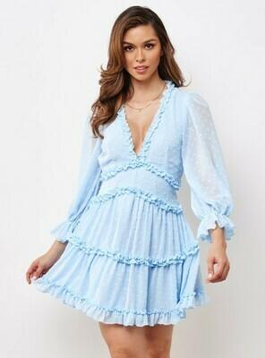 Skye Polka Dot Ruffle Dress