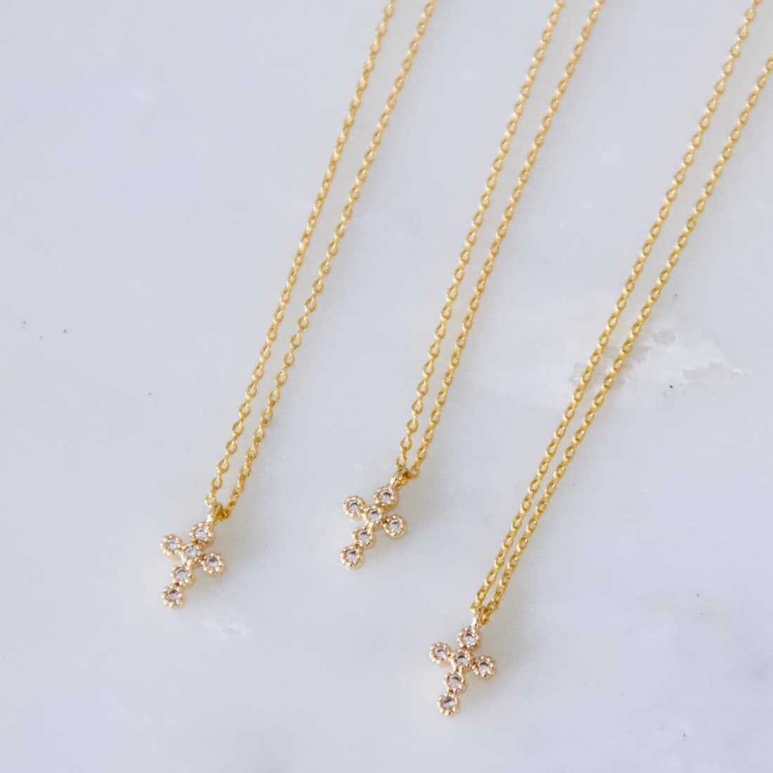 Dainty Zircon Cross Necklace