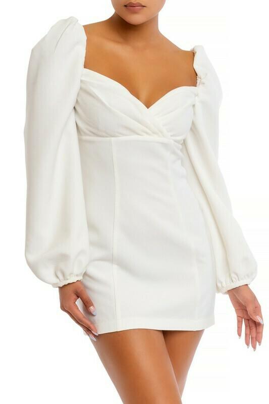 Kendall Twill Puff Sleeve Dress