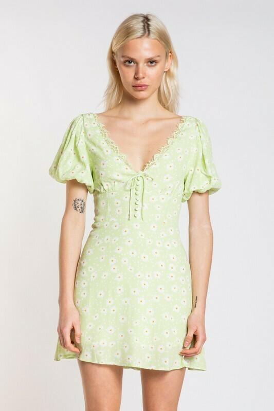 Macy Floral Puff Sleeve Dress