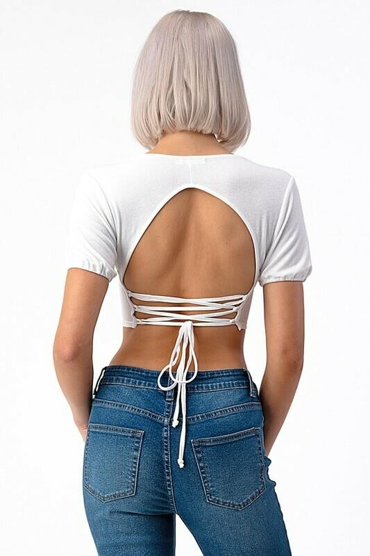 Back Lace Up Crop