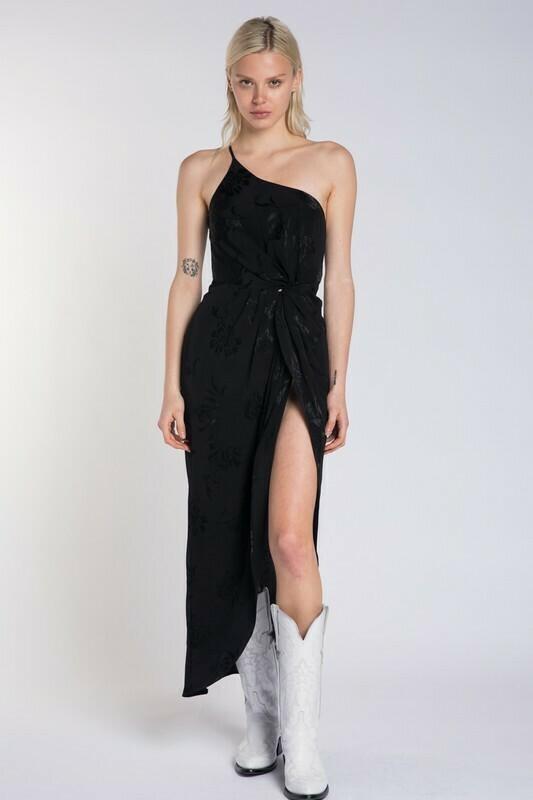 Floral High Slit Maxi Dress