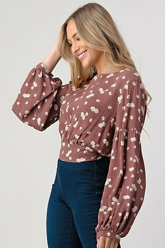 Back Tie Floral Top