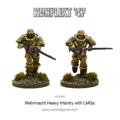 German Heavy Infantry With  LMG's