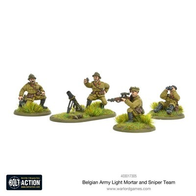 Belgian Army Light Mortor And Sniper Teams