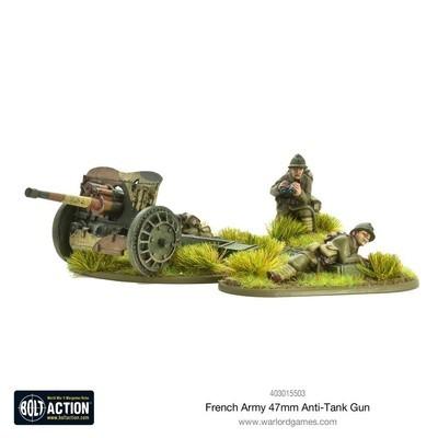 French Army 47mm medium Anti-tank Gun