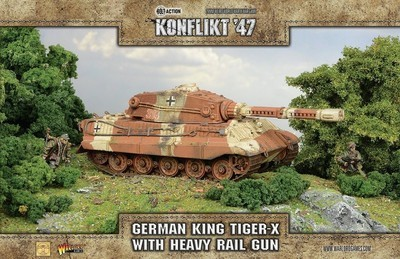 King Tiger X With Heavy Rail Gun