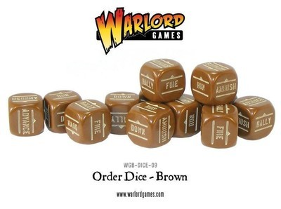 Bolt Action Orders Dice Brown