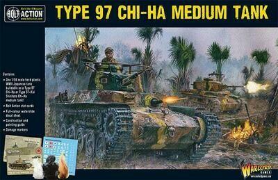 Dug-in Type 97 Chi-Ha medium tank