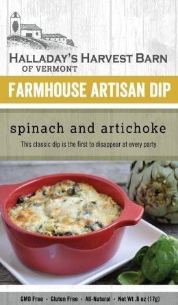Halladay's Harvest Barn Farmhouse Artisan Dip Spinach & Artichoke