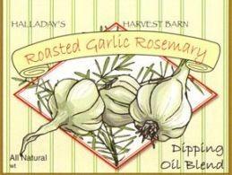 Halladay's Harvest Barn Roasted Garlic Rosemary Dipping Oil & Spread Blend