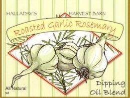 Halladay's Harvest Barn Roasted Garlic Rosemary Dipping Oil & Spread Blend