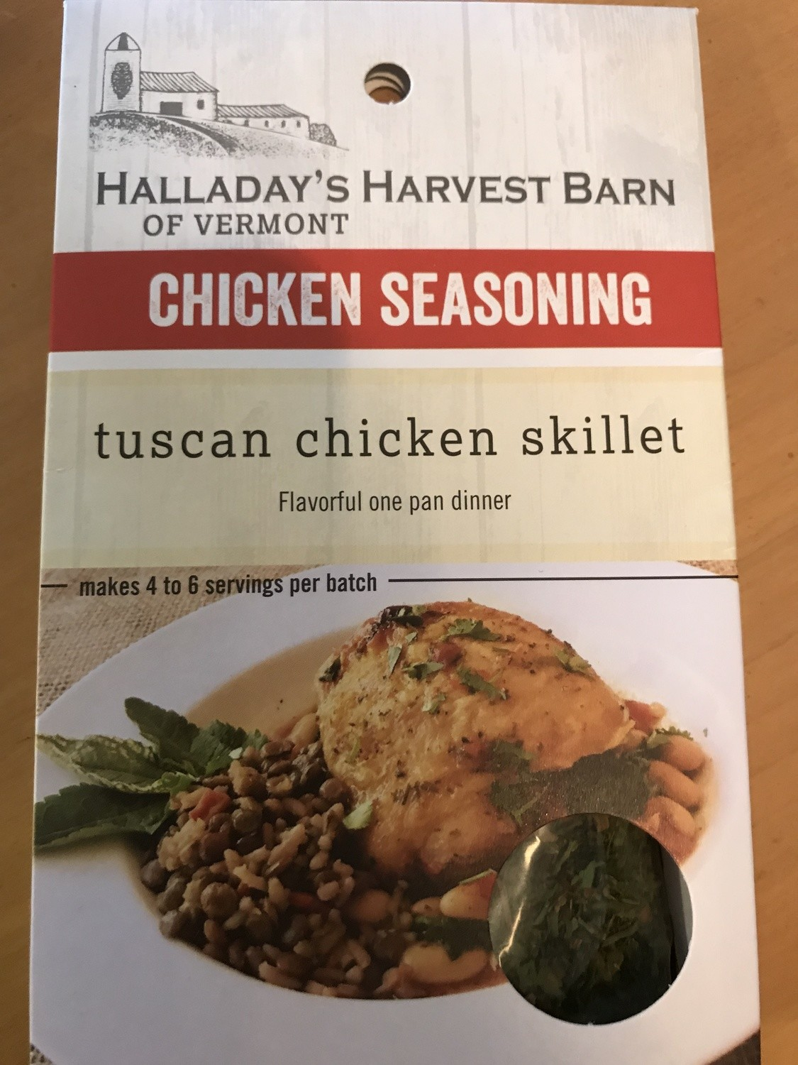 Halladay's Harvest Barn Tuscan Chicken Skillet