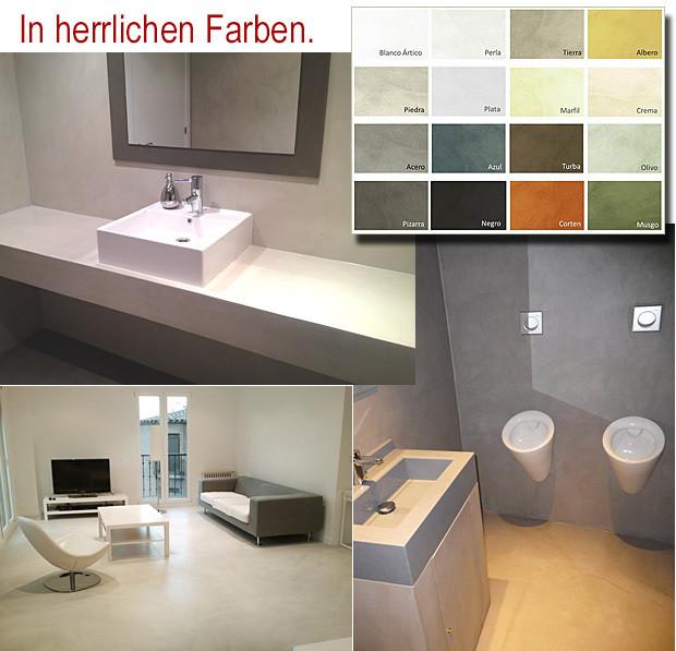KIT 5m² Mikrozement Bad, Küche, Treppe etc.