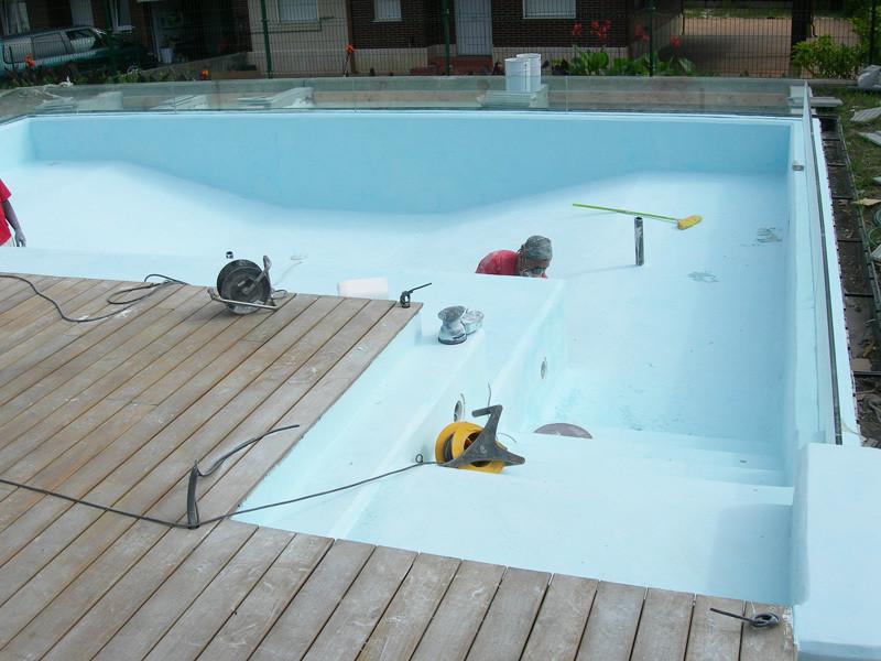 50m² Mikrozement fugenlose Pool Beschichtung
