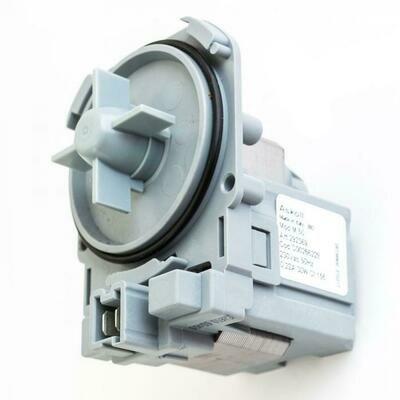 Насос (помпа) на защелках Askoll 30 Вт для стиральных машин Bosch, Siemens, Indesit, Zanussi, клемы спереди вместе