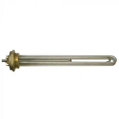 Нагревательный элемент ТЭН 7500 Вт (2500 Вт*3), резьба на фланце 59 мм, длина 370 мм, нержавейка 68675
