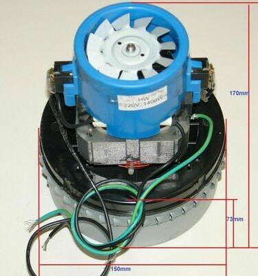 Мотор пылесоса моющего 1400w HW Genius/Twin TT 220V H=170 D=150 h=73