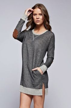 French Terry Tunic Sweater