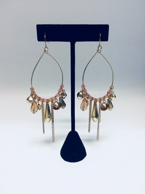 Gold Tone Dangling Earrings