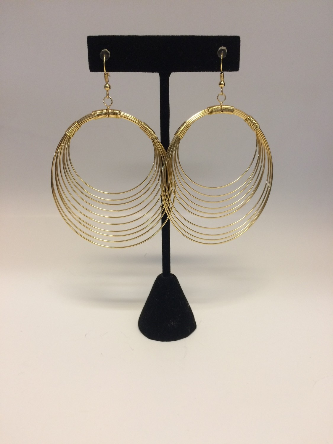 Gold Plated Wire Hoop Earrings